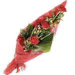 Gloss Wrapped 3 Red Roses Bunch